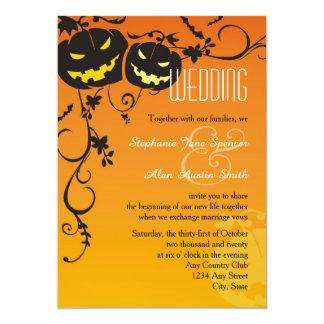 Faire-part de mariage de citrouilles de Halloween