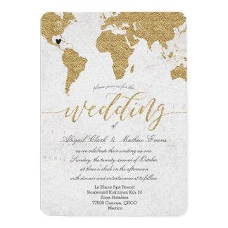 Faire-part de mariage de destination de carte du