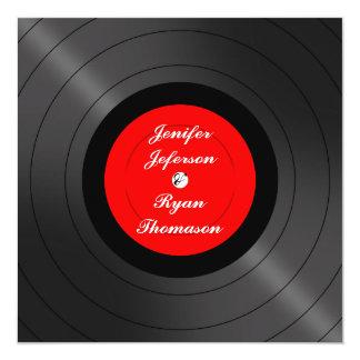 faire-part de mariage de disque vinyle