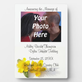 Faire-part de mariage de photo du moût de St John Photo Sur Plaque