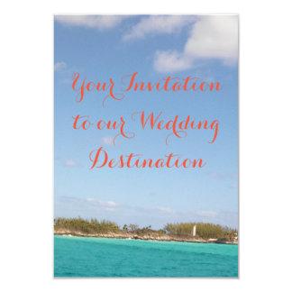 Faire-part de mariage de plage
