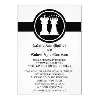 Faire-part de mariage de roi et de Reine d'échecs