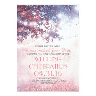 Faire-part de mariage de vieilles d'arbre lumières carton d'invitation  12,7 cm x 17,78 cm