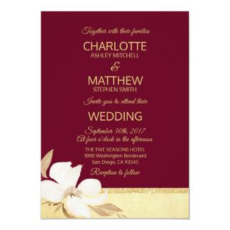 Faire-part de mariage d'or de Bourgogne