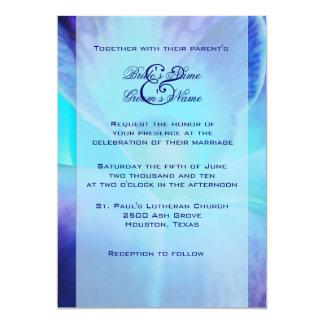 Faire-part de mariage d'orchidée bleue