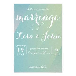 Faire-part de mariage élégant de gradient
