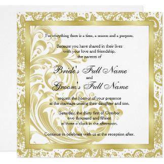 Faire-part de mariage élégant - or