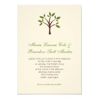 Faire-part de mariage feuillu d'arbre
