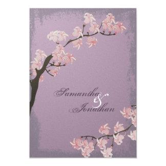 Faire-part de mariage - fleurs de cerisier