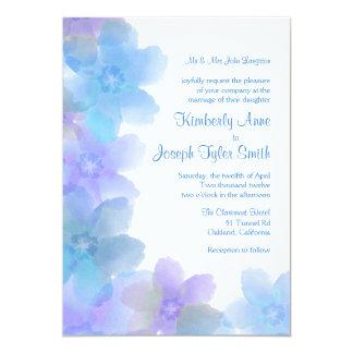 Faire-part de mariage floral bleu 5x7 de lavande
