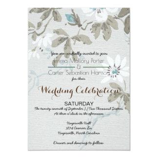 Faire-part de mariage floral chic minable simple