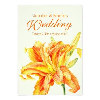 Faire-part de mariage floral de Hemerocallis de