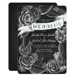 Faire-part de mariage floral de tableau
