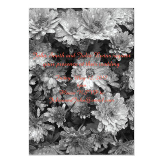 faire-part de mariage floral noir et blanc