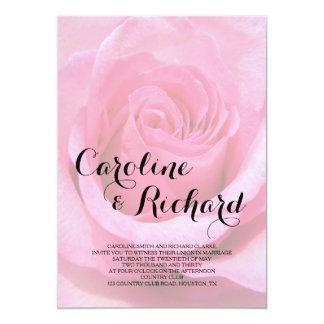 Faire-part de mariage floral - photo de rose de