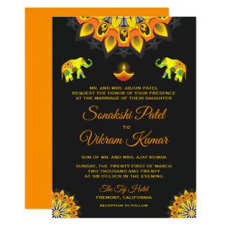 Faire-part de mariage indou de style de Bollywood