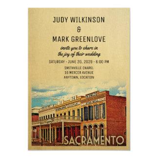Faire-part de mariage la Californie de Sacramento