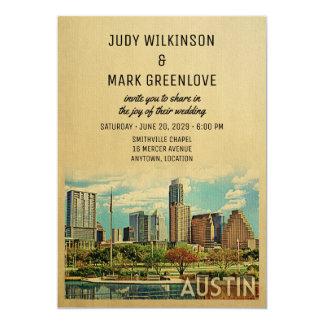 Faire-part de mariage le Texas d'Austin
