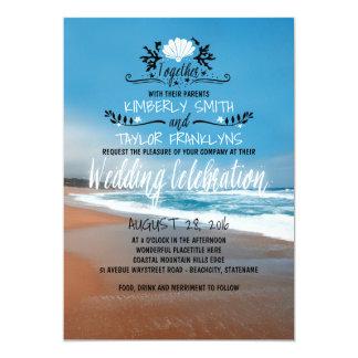 Faire-part de mariage lunatique de plage