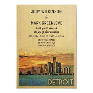 Faire-part de mariage Michigan de Detroit