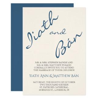 Faire-part de mariage moderne de manuscrit d'Iiath