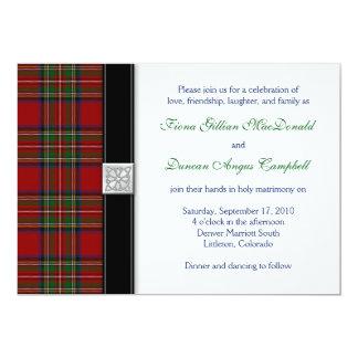 Faire-part de mariage royal d'écossais de tartan