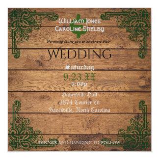 Faire-part de mariage rustique de Claddagh de