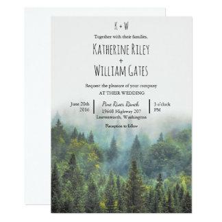 Faire-part de mariage rustique de forêt