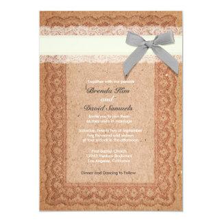 cartons d 39 invitation toile jute mariage dentelle faire part toile jute mariage dentelle. Black Bedroom Furniture Sets. Home Design Ideas