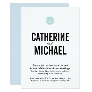 Faire-part de mariage simple de typographie de