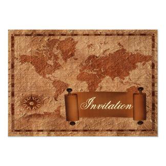 faire-part de mariage vintage de destination carton d'invitation  12,7 cm x 17,78 cm
