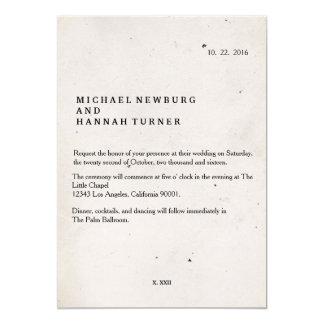 Faire-part de mariage vintage de livre