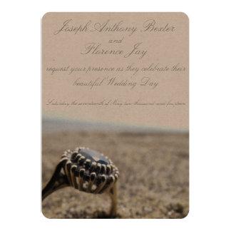 Faire-part de mariage vintage de plage