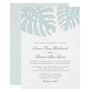 Faire-part de mariage vintage de tropiques