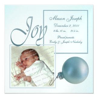 Faire-part de naissance de bébé de joie de Noël