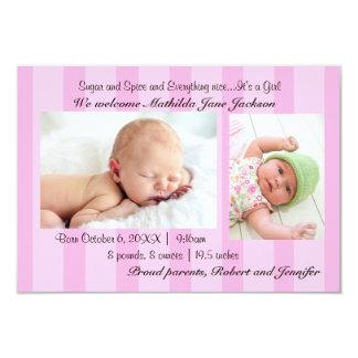 faire-part de naissance de bébé du sucre 3x5 et