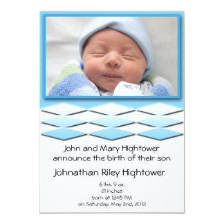 Faire-part de naissance de bleu de Little Boy
