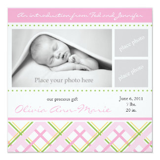 Faire-part de naissance de fille - carte photo