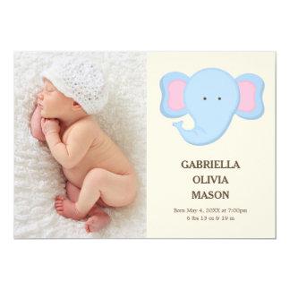 Faire-part de naissance de l'éléphant |