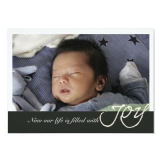 Faire-part de naissance de photo de joie