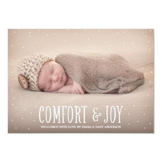 Faire-part de naissance de vacances de confort et