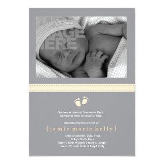 Faire-part de naissance d'étapes de bébé -