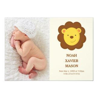 Faire-part de naissance du lion |