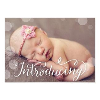 Faire-part de naissance en lettres de photo de