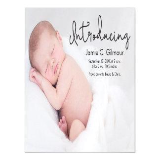 Faire-part de naissance fait sur commande de bébé