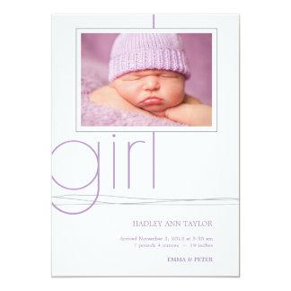 Faire-part de naissance fait sur commande de photo