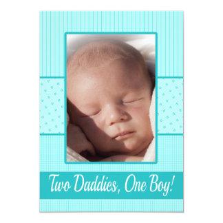 Faire-part de naissance gai de papas de bébé