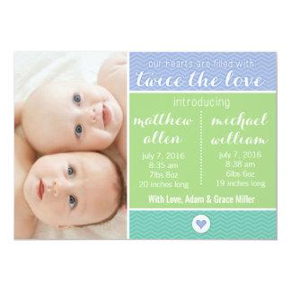 Faire-part de naissance - jumeaux, deux fois