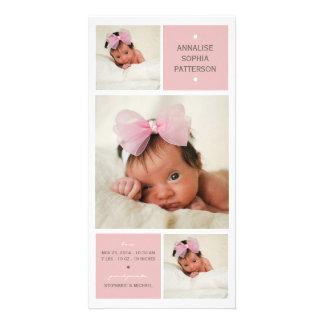 Faire-part de naissance moderne de bébé de photo d photocarte