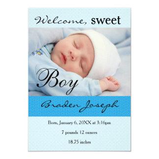 Faire-part de naissance nouveau-né de bébé de